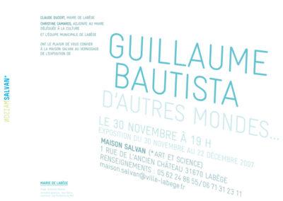 Guillaume Bautista, « D'autres mondes », carton d'invitation. Conception graphique : Yann Febvre.