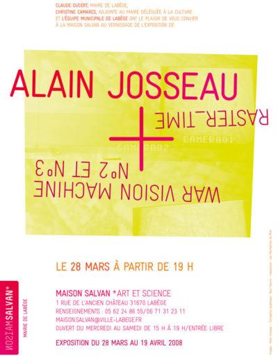 Alain Josseau, « War vision machine », carton d'invitation. Conception graphique : Yann Febvre.