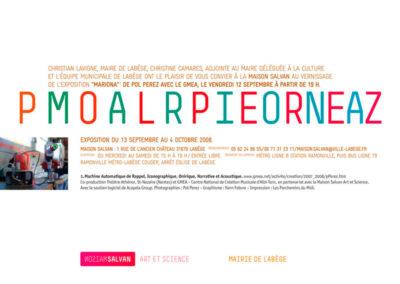 Pol Perez, « Mariona », carton d'invitation. Conception graphique : Yann Febvre.