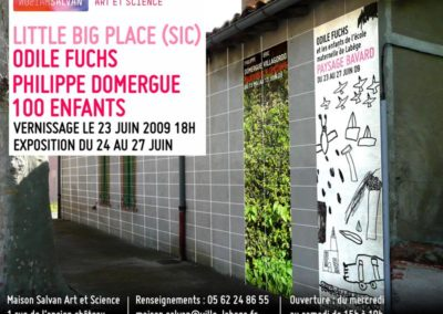 Odile Fuchs, 100 enfants, « Little big place (sic) », carton d'invitation. Graphisme : Maison Salvan.