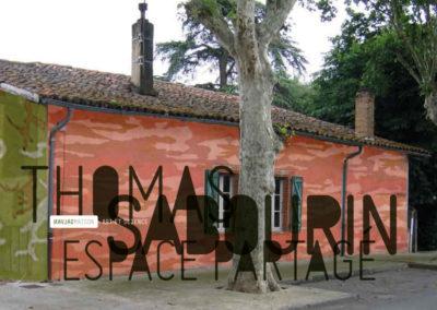 Thomas Sabourin, « Espace partagé », carton d'invitation. Conception graphique : Yann Febvre.