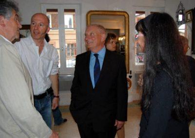 Carl Hurtin, « Champ ouvert / tragédie des communs », vernissage-visite de l'exposition en présence de Carl Hurtin. Mr Lavigne et Christine Camares.