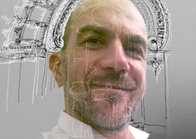 Pascal Ruetschi, portrait par l'artiste pour les 10 ans de la Maison Salvan.
