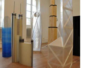 Séverin Hubard, vue de l'exposition. «Palatinum» (gratte-ciel), 2010.