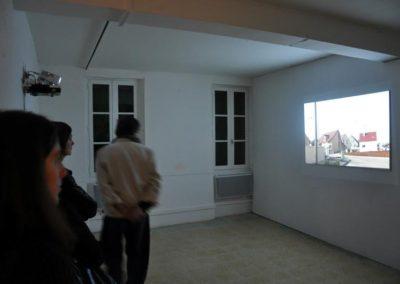 Séverine Hubard, vue de l'exposition. «Un jour», vidéo, 2007.