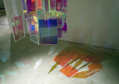 Étienne Rey, vue de l'exposition «Diffraction».