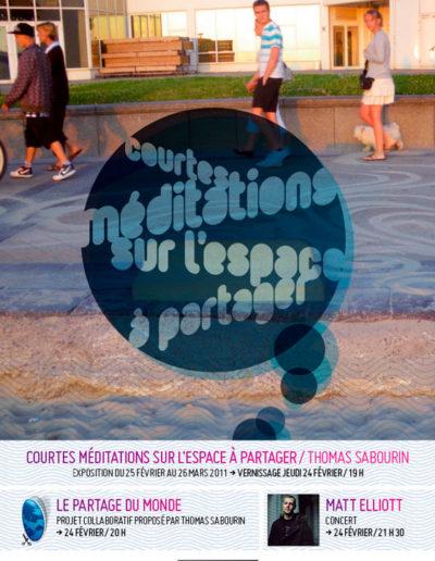 Flier de l'exposition. Conception graphique : Yann Febvre.