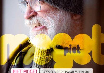 Piet Moget, flier de l'exposition. Concept graphique : Yann Febvre.