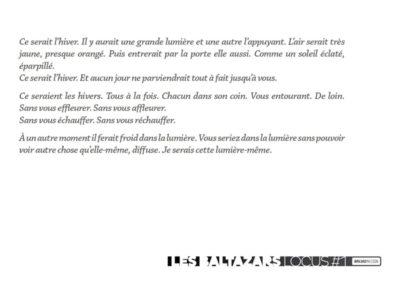 Carton d'invitation Les Baltazars, « Locus #1 ». Conception graphique : Yann Febvre.