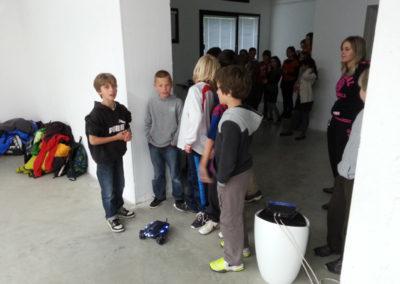 Visite-atelier de l'exposition « Same player shoot again ».