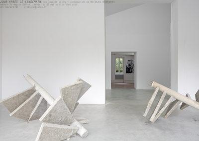 Nicolas Daubanes. Vue de l'exposition « Le jour après le lendemain ».