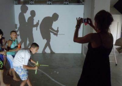 Visite de résidence de l'exposition «En mouvement».