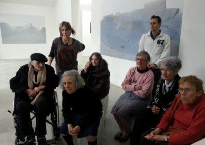 Visite de l'exposition «Chronotope».