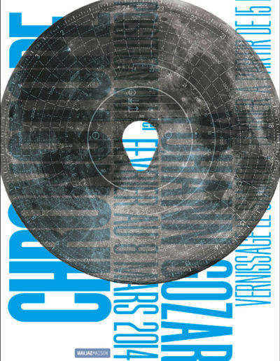 Yohan Gozard, carton d'invitation de l'exposition. Conception graphique : Yann Febvre.