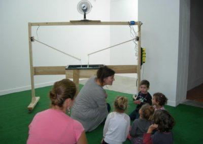Visite avec l'école maternelle de l'exposition «À propos du fond de l'air».