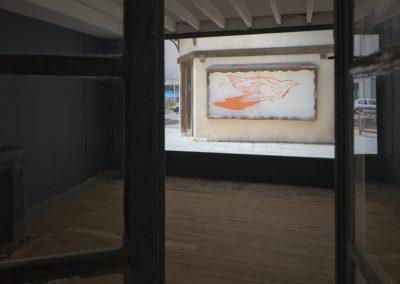Françoise Pétrovitch, vue de l'exposition «Étant donné un mur».