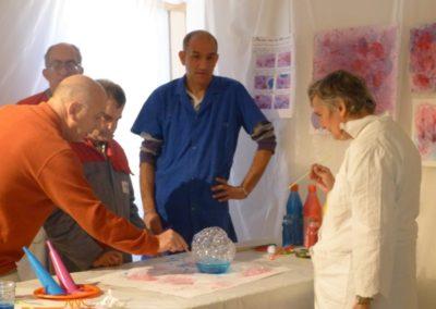 Atelier avec l'ESAT autour de l'exposition «À propos du fond de l'air».
