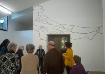 Visite de la Maison de retraite de l'exposition « Étant donné un mur ».