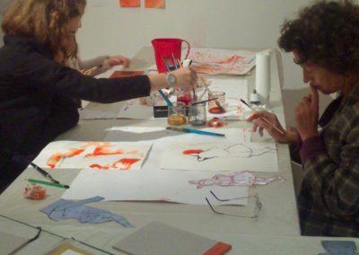 Atelier avec l'association art&couleur autour de l'exposition « Étant donné un mur ».