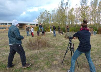 Tournage du film «Une terre au calme», Collectif Ding.