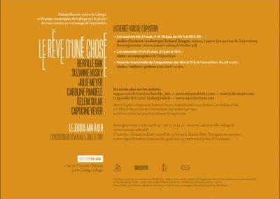 Carton d'invitation « Le rêve d'une chose ». Conception graphique : Yann Febvre.