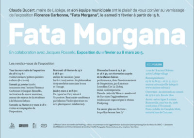 Carton d'invitation Florence Carbonne, « Fata Morgana ». Conception graphique : Yann Febvre