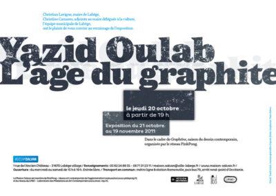 Carton d'invitation de l'exposition. Conception graphique : Yann Febvre.