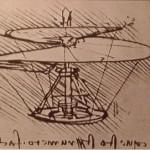 Léonard de Vinci, la vis aérienne, 1486