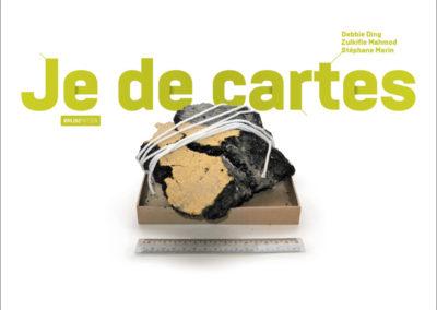 Carton d'invitation «Je de cartes». Conception graphique : Yann Febvre.