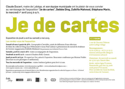 Flier «Je de cartes». Conception graphique : Yann Febvre.