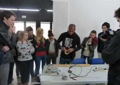 Workshop de Zulkifle Mahmod aveclesétudiants del'école ÉCRAN deLabège