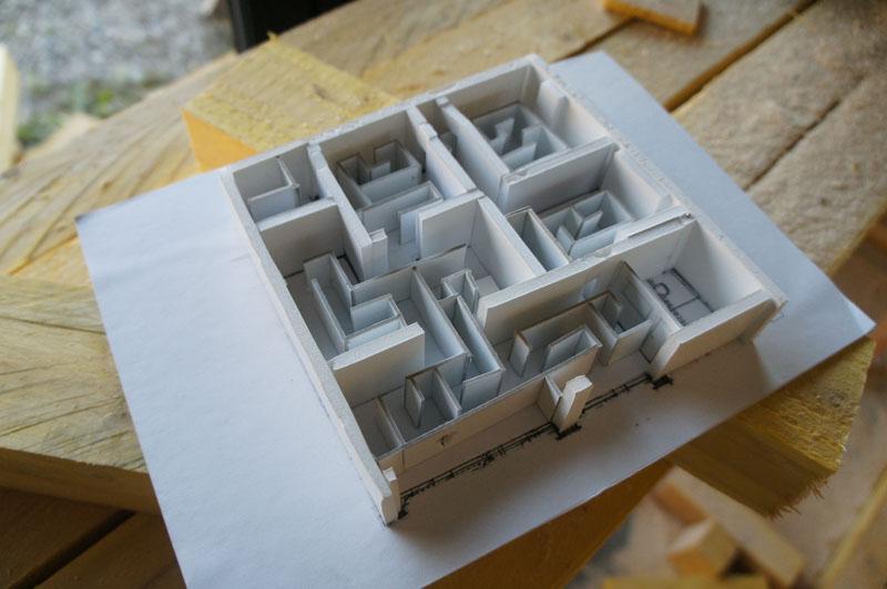 Le Labyrinthe  Maison Salvan  Labge Maquette Dtude