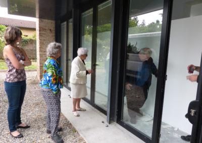 Visite et rencontre entre l'ESAT de St-Orens et la maison de retraite la Bastide de Médicis dans «Le Labyrinthe» de Benedetto.