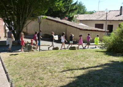 Repérage dans l'espace public de Labège par les enfants.