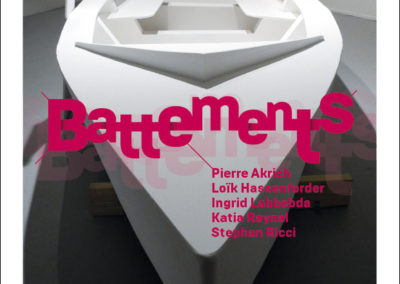 Flier « Battements ». Conception graphique : Yann Febvre.