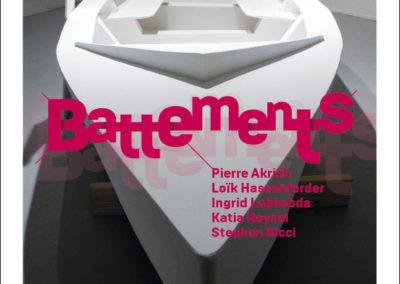 Flier « Battements ». Conception graphique : Yann Febvre.