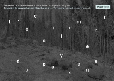 Flier « L'Écoulement du paysage ». Conception graphique : Yann Febvre.