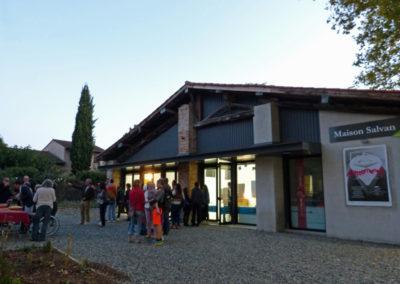 Vernissage de l'exposition «Battements» en présence des artistes.