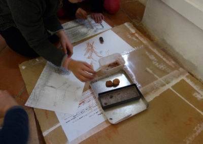 Atelier dans le cadre de l'exposition «L'Écoulement du paysage».