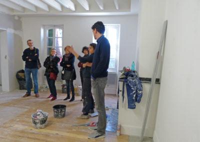 Rencontre avec l'artiste sur les enjeux de la résidence.