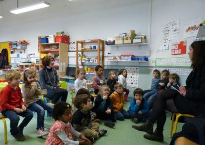 Rencontre avec une classe de l'école maternelle.