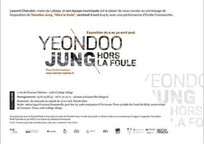 Carton d'invitation « Hors la foule ». Conception graphique : Yann Febvre.