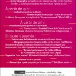 Flier des « 10 ans ! » de la Maison Salvan. Conception graphique : Yann Febvre.