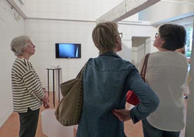 Visite de l'exposition, juillet 2016.
