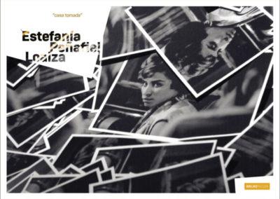 Carton d'invitation «casa tomada». Conception graphique : Yann Febvre.