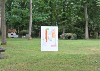 Installation dans le parc du Cival-Lestrade.