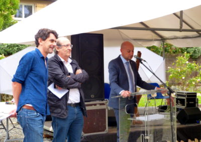 Discours du maire Laurent Chérubin.