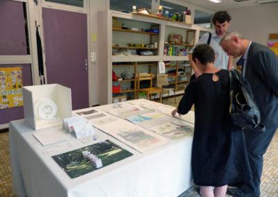 Inauguration de l'exposition « Effacer l'image pour n'en garder qu'un souvenir ».