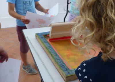 Stage d'été2016 : découvrir lasérigraphie avec LauraFreeth