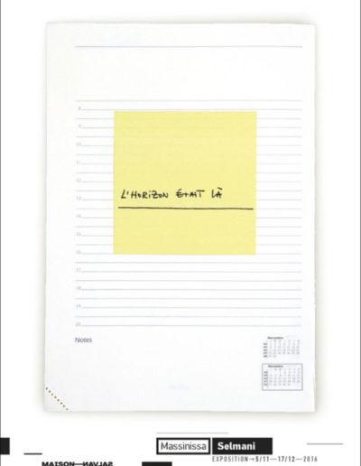 Carton d'invitation «L'Horizon était là». Conception graphique : Yann Febvre.